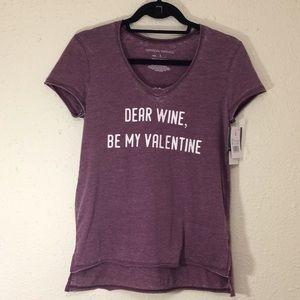 """DEAR WINE, BE MY VALENTINE"" graphic s/s tee (148)"